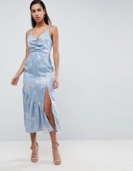 Finders Floral Cami Midi Dress - Blue