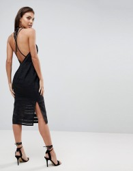 Finders Keepers Brixton Backless Pencil Dress - Black