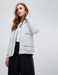 Finders Keepers Cecil Minimal Bomber Jacket - Grey