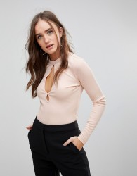 Finders Keepers Huntr Keyhole Long Sleeved Top - Cream