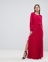 Finders Keepers Maddox Slit Maxi Dress - Red
