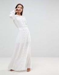 Finders Keepers Maddox Slit Maxi Dress - White