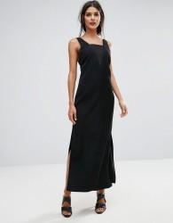 Finders Luca Deep V Back Maxi Dress - Black