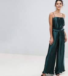 Finders Pleated Exclusive Wide Leg Co Ord Trouser - Green