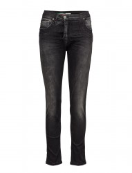 Fine Flap Black Denim