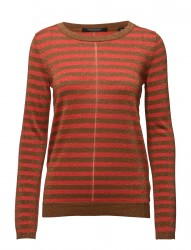 Fine Gg Pullover Lurex Knit In Stripes Or Solid