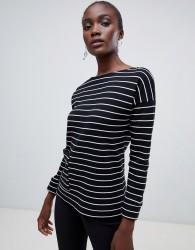 Finery Stonebeck stripe sweatshirt - Black