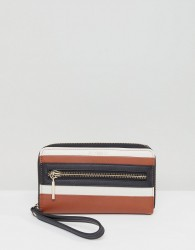 Fiorelli Abbey Toffee Stripe Mix Zip Around Purse - Multi