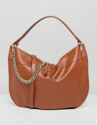 Fiorelli Oversized Hobo Shoulder Bag in Tan with Chain Detail - Tan
