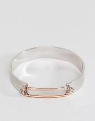 Fiorelli Rose Gold Loop Bangle - Silver