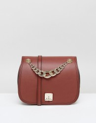 Fiorelli Saddle Bag in Deep Tan With Chain Detail - Tan