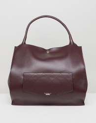 Fiorelli Shoulder Bag With Quilted Pocket in Aubergine - Purple