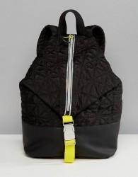 Fiorelli Sport Quilted Zip Detail Backpack in Black - Black