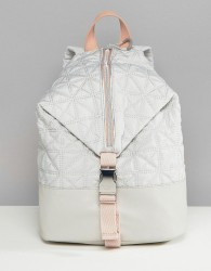 Fiorelli Sport Quilted Zip Detail Backpack in Grey - Grey