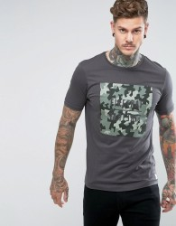 Firetrap Camo Graphic T-Shirt - Black