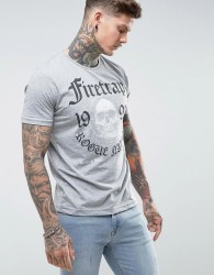 Firetrap Graphic Skull T-Shirt - Grey