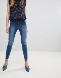 First & I Frayed Hem Skinny Jeans - Blue