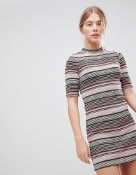 First & I Stripe Bodycon Dress - Multi