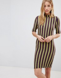 First & I Stripe Bodycon Dress - Multi