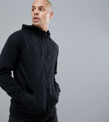 First Menswear Decon Slim Hood Zip - Black