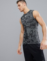 FIRST Seamless Training Vest In Black Print - Black
