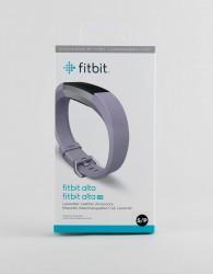Fitbit Alta HR leather strap in lavender - Purple