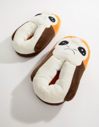 Fizz Porg slippers - Brown