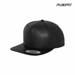 Flexfit Snapback-cap i imiteret læder