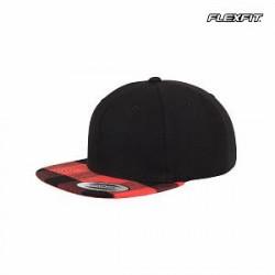 Flexfit Snapback-cap med ternet skærm