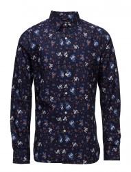 Flower Printed Poplin Shirt - Gots