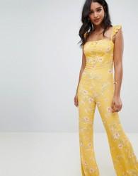 Flynn Skye bloom print jumpsuit - Yellow