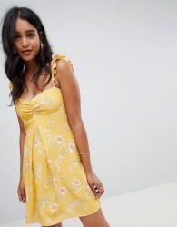 Flynn Skye bloom print mini dress - Yellow
