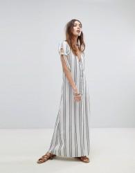 Flynn Skye Button Front Maxi Dress - White