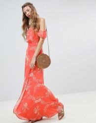 Flynn Skye Floral Bella Maxi Dress - Orange
