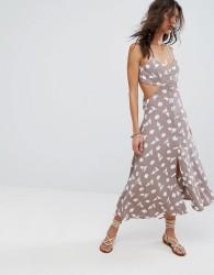 Flynn Skye Mallory Cut Out Midi Dress - Multi
