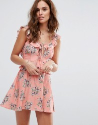 Flynn Skye Printed Tea Dress - Multi
