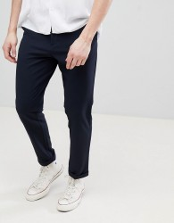 FoR Smart Textured Trousers In Navy - Navy