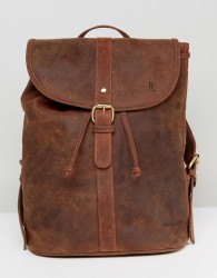 Forbes & Lewis Leather Backpack in Vintage Leather - Brown
