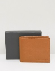Forbes & Lewis Leather Billfold Wallet In Tan - Brown