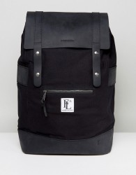 Forbes & Lewis Leather Rider Backpack In Black - Black