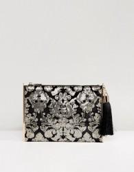 Forever New Embellished Clutch Bag With Tassle - Black