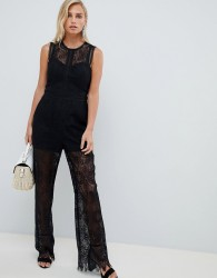 Forever New Lace Jumpsuit - Black