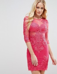 Forever Unique All Over Lace Dress - Pink