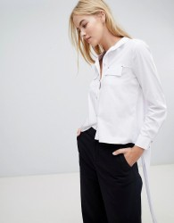 Forever Unique Blouse With Tie Back - White