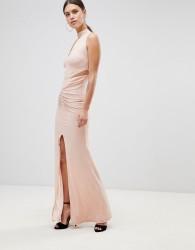 Forever Unique Choker Detail Maxi Dress - Pink