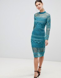 Forever Unique Lace Bodycon Dress - Green