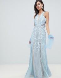 Forever Unique lace maxi dress - Blue