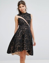Forever Unique Lace Skater Dress - Multi