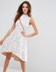 Forever Unique Lace Skater Dress - Multi