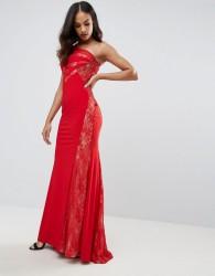 Forever Unique One Shoulder Maxi Dress - Red